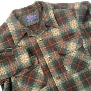 Vintage Pendleton Wool Plaid Board Shirt